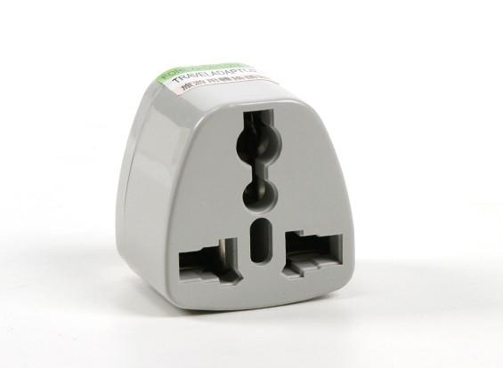HobbyKing TXW004 Fused 13 Amp Netschakelaars Multi Adapter-Grey (India Plug)