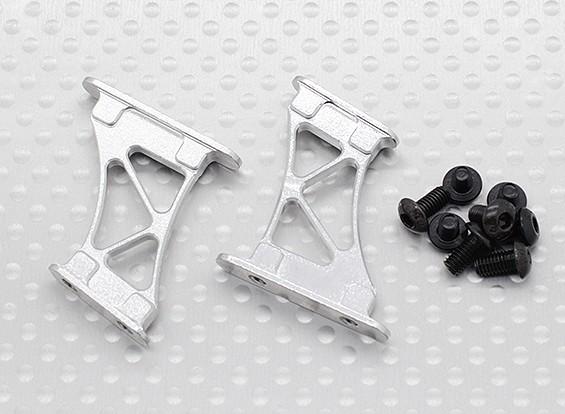 10/01 Aluminium CNC Tail / Wing Ondersteuning Frame-Medium (Silver)