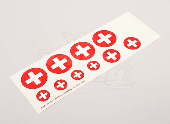 Schaal National Air Force Insignia stickervel - Swiss (klein)