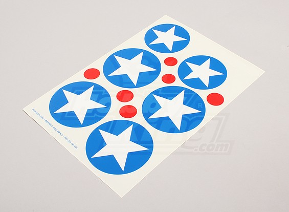 Schaal National Air Force Insignia stickervel - USA (Type B)