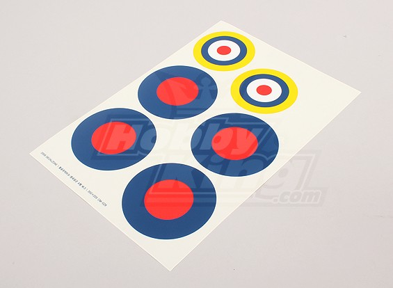 Schaal National Air Force Insignia stickervel - UK (Type B)