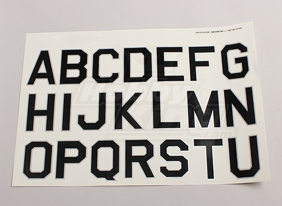 Letters / symbolen Zwart-Zilver Luftwaffe stijl (Large) 2 vellen