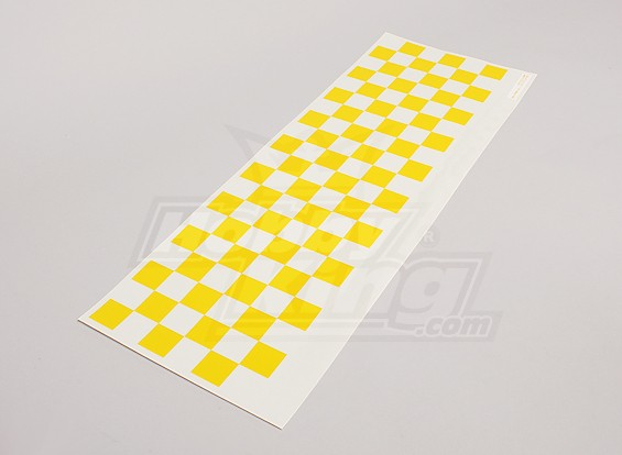 Stickervel Chequer Patroon Geel / Clear 590mmx180mm
