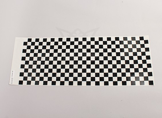 Decal Sheet Small Chequer Pattern Black / Clear 590mmx180mm