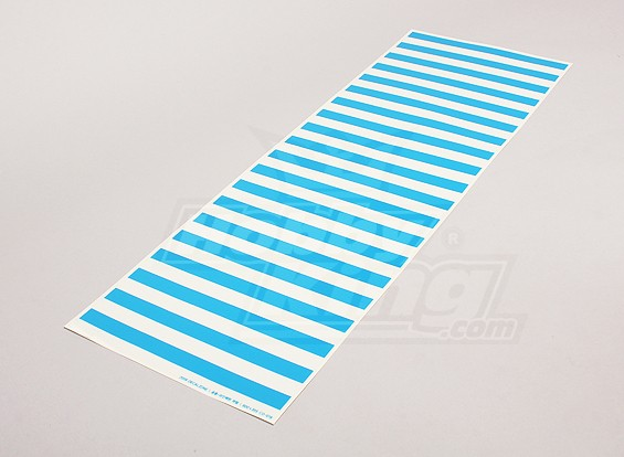 Stickervel Streeppatroon Blue / Clear 590mmx200mm