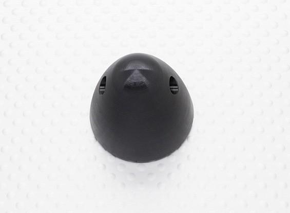 """30mm Aluminium spinner prop moer 5/16 """"-24 (geanodiseerd zwarte afwerking)"""