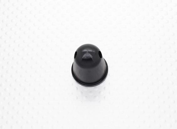 Prop Nut / Spinner 22mm Alloy M10x1.00 zwart geanodiseerd