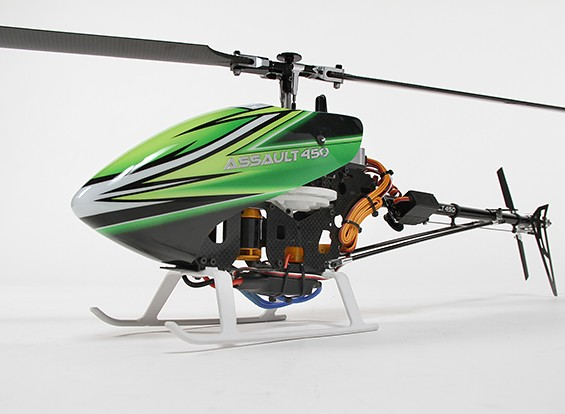 Assault 450 DFC Flybarless 3D Helicopter w / OrangeRX T-SIX 2.4Ghz DSM2 Transmitter - Mode 1 (RTF)