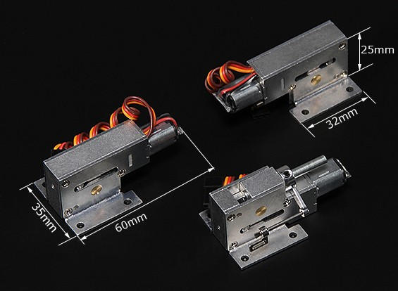 Turnigy Full Metal Servoless Zet vrij w / stuurbare neusmontage (4mm pin)