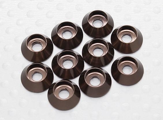 Sockethead Wasmachines geanodiseerd aluminium M3 (Titanium Grey) (10st)