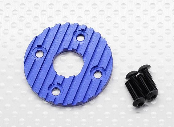 Aluminium CNC Motor Heatsink Plate 36mm (blauw)
