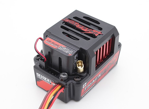 TrackStar 150A Genii 1 / 8ste Schaal Sensored borstelloze Car ESC - (PC Programmable)