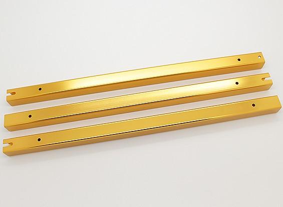 Hobbyking Y650 Scorpion Aluminium Vierkant Boom Set (gouden geel) (3 stuks / zak)