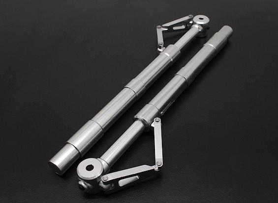 Turnigy 60 ~ 90 grootte Alloy Sprung Oleo Strut met Trailing Link (160mm) 2pc
