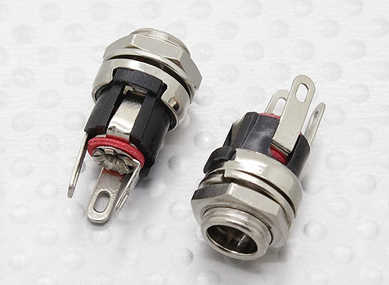 2.1mm - 5.5mm DC Chassis Socket Jack (2pc)