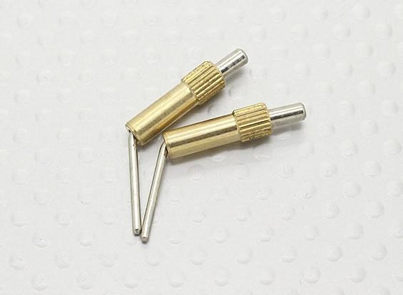 Messing Canopy Sloten L20mm - 2 stuks