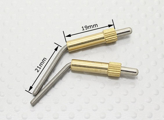 Messing Canopy Sloten L40mm - 2 stuks