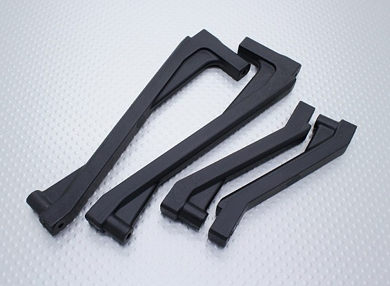 Front & Rear Chassis Brace - Nitro Circus Basher 1/8 Schaal Monster Truck (1set)