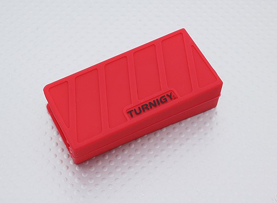 Turnigy zachte siliconen Lipo Battery Protector (1000-1300mAh 3S Red) 74x36x21mm