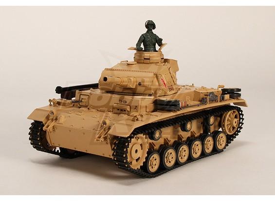 Tauch Panzer III Ausf.H RC Tank RTR w / Airsoft / Smoke & Tx
