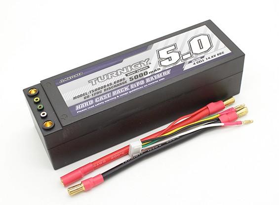 Turnigy 5000mAh 4S 14.8V 60C Hardcase Pack (verwisselbare Leads)