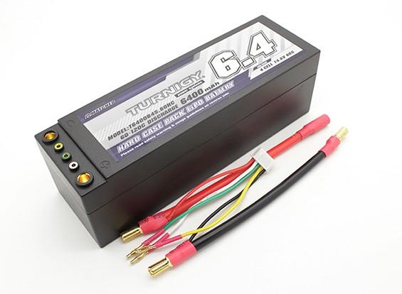 Turnigy 6400mAh 4S 14.8V 60C Hardcase Pack (verwisselbare Leads)