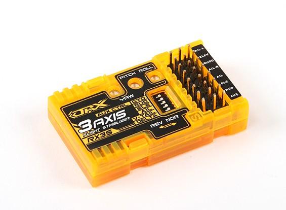 OrangeRX RX3S 3-assige Flight Stabilizer V2 (V2.1 firmware) (V-staart / Delta / AUX)