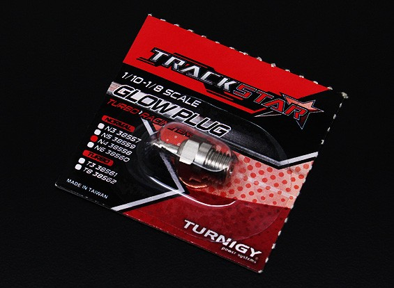 TrackStar 10/01 ~ 08/01 Schaal gloeibougies No.4 (MEDIUM HOT)