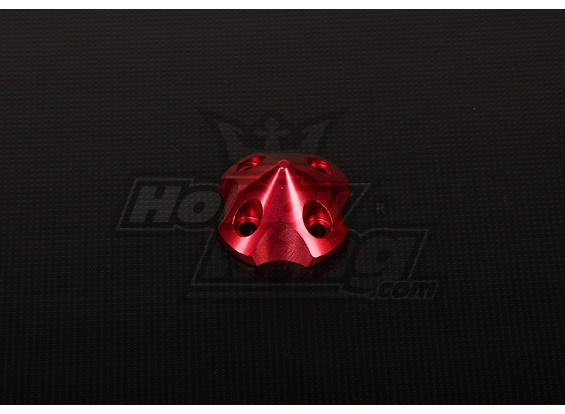 3DSpinner voor HP-50 / DLE55 / DA50 / JC51 (41x41x26mm) Rood