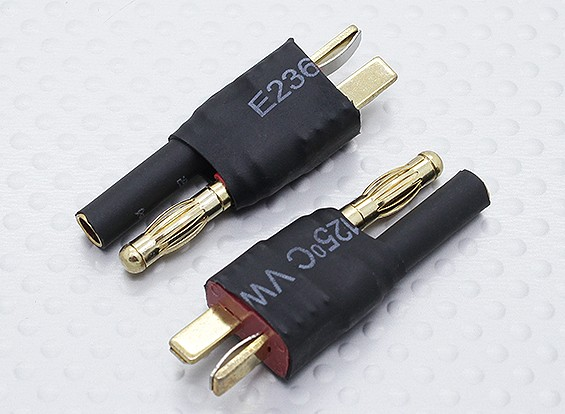 T-Connector naar HXT 4mm Battery Adapter Lead (2pc)