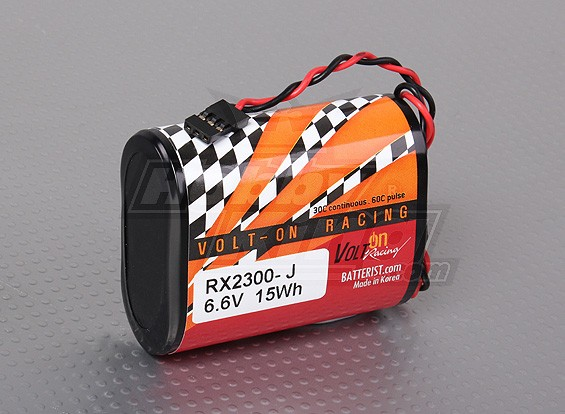 A123 Systems 2300mAh 6.6v 2S1P Rx Pack Lithium-ion
