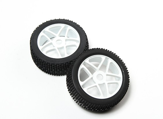 HobbyKing® 1/8 Star White Wheel & Off-road Tire 17mm Hex (2pc)
