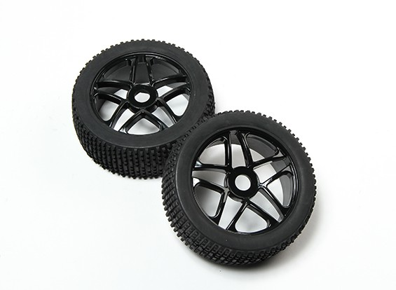 HobbyKing® 1/8 Star Black Wheel & Off-road Tire 17mm Hex (2pc)