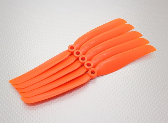 Hobbyking ™ Propeller 8x6 Oranje (CCW) (5 stuks)