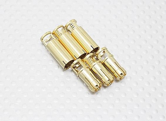 6mm RCPROPLUS Supra X Gold Bullet Connectors (3 paar)