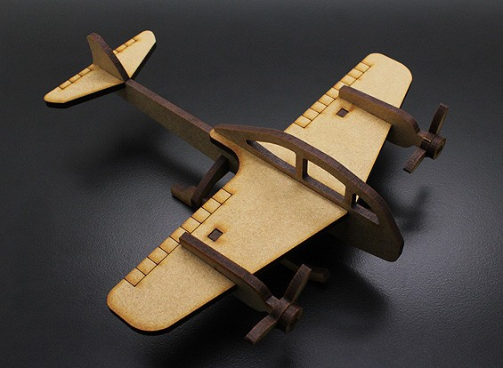 Militaire Fighter Bomber Laser Cut Wood Model (KIT)