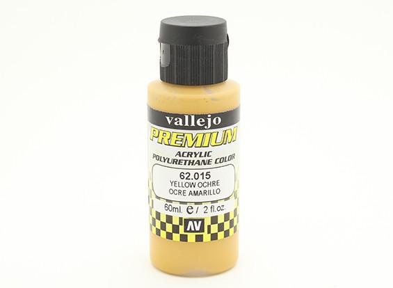 Vallejo Premium Color Acrylverf - Yellow Ochre (60 ml)