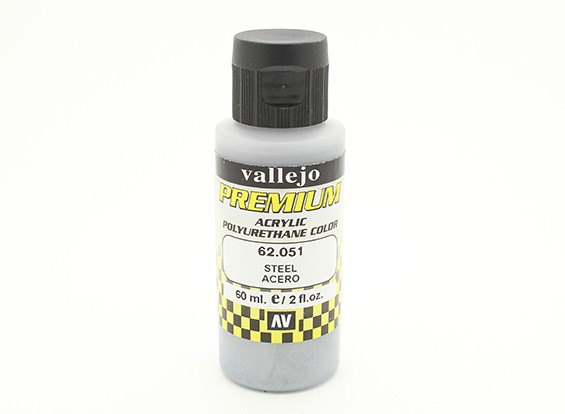 Vallejo Premium Color Acrylverf - Staal (60 ml)