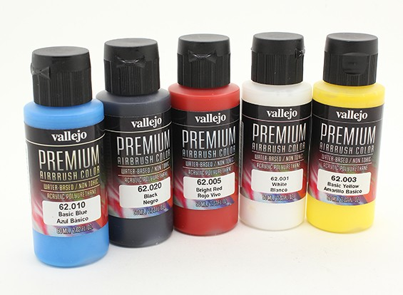 Vallejo Premium Color Acrylverf - Basic Opaque Selection (5 x 60 ml)
