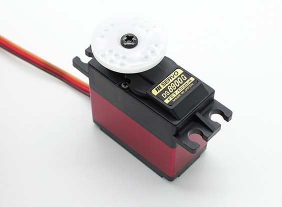 JR DS8900G Ultra High Speed Digital Tail Servo met Heatsink.