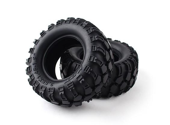 """1/10 Scale 1.9 """"Crawler Tire / KRT Hollow met insert (2 stuks)"""