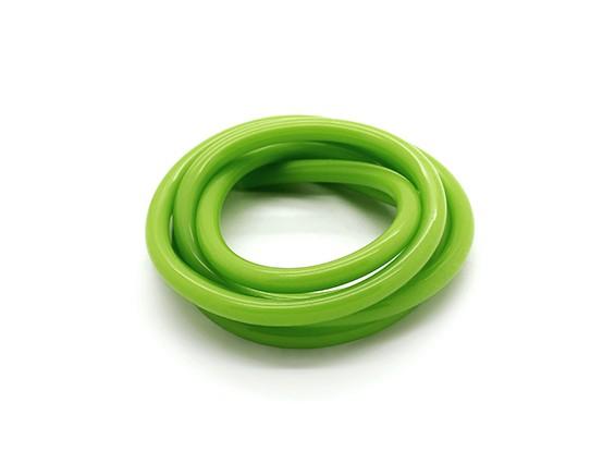 Heavy Duty Silicone Brandstof Pipe Green (Nitro Fuel) (1 mtr)