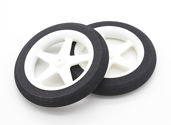 Light Foam Wheel 5 spaaks (Diam: 80mm, breedte 13mm) (2pc)
