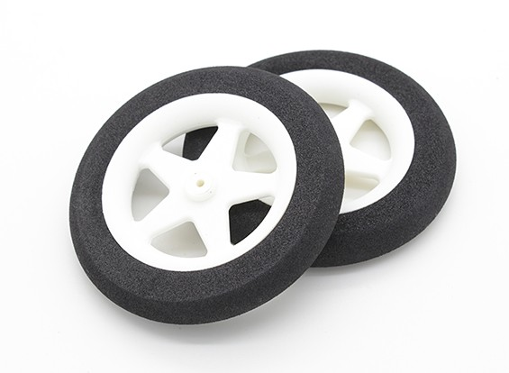 Light Foam Wheel 5 spaaks (Diam: 65mm, breedte 10mm) (2pc)