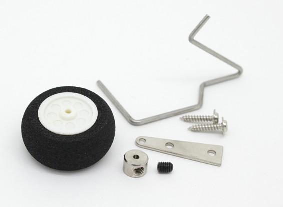 25mm Bestuurbare Foam Tail Wheel Assembly