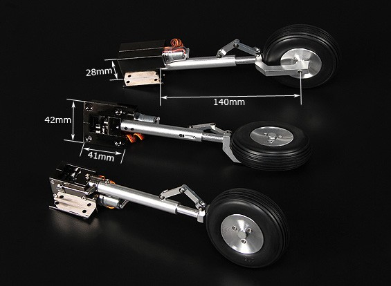 Turnigy Delux Full Metal Injection Alloy Servoless intrekken (Tricycle) T 28 Trojan