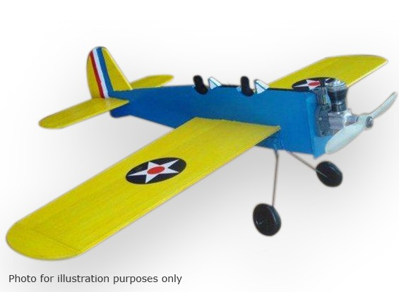 Black Hawk modellen Trainer PT-19 Controle Line Balsa 584mm (Kit)