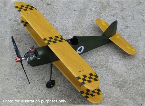 Black Hawk modellen Night Hawk Controle Line Bi-plane Balsa 508mm (Kit)