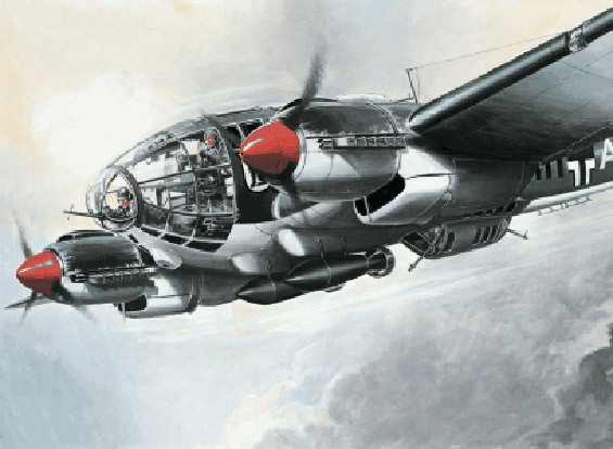 Italeri schaal 1/72 Heinkel He 111 H-6 plastic model kit