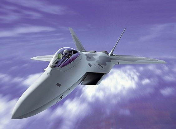 Italeri 1/72 Schaal F-22 Raptor plastic model kit